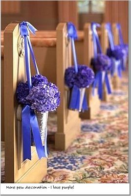 Church And Ceremony Pew Decorations