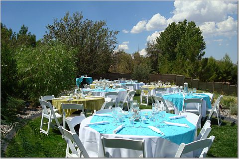 Decorating an outdoor wedding reception