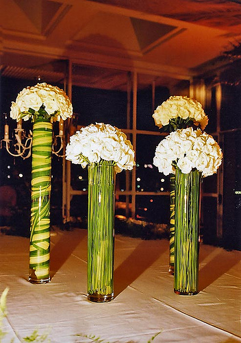 Don't forget to decorate inside your flower vases -