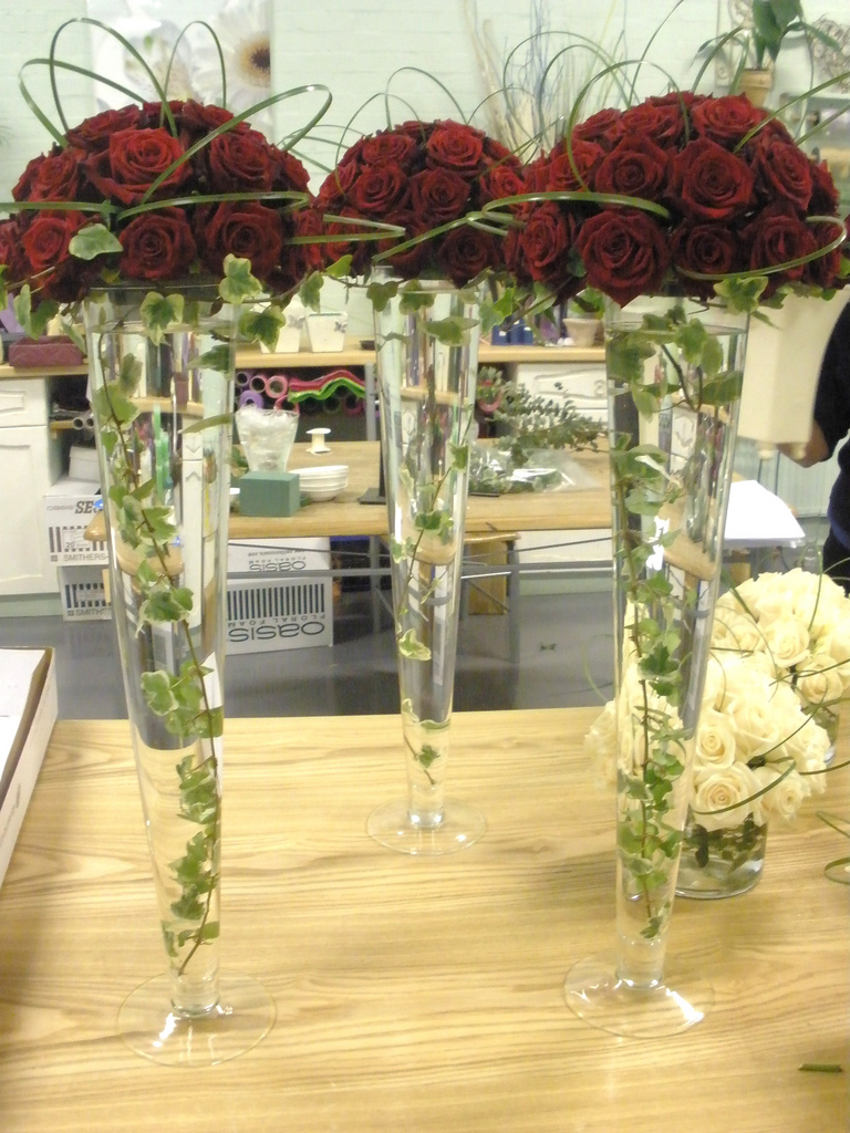 Fancy tall flower arrangements