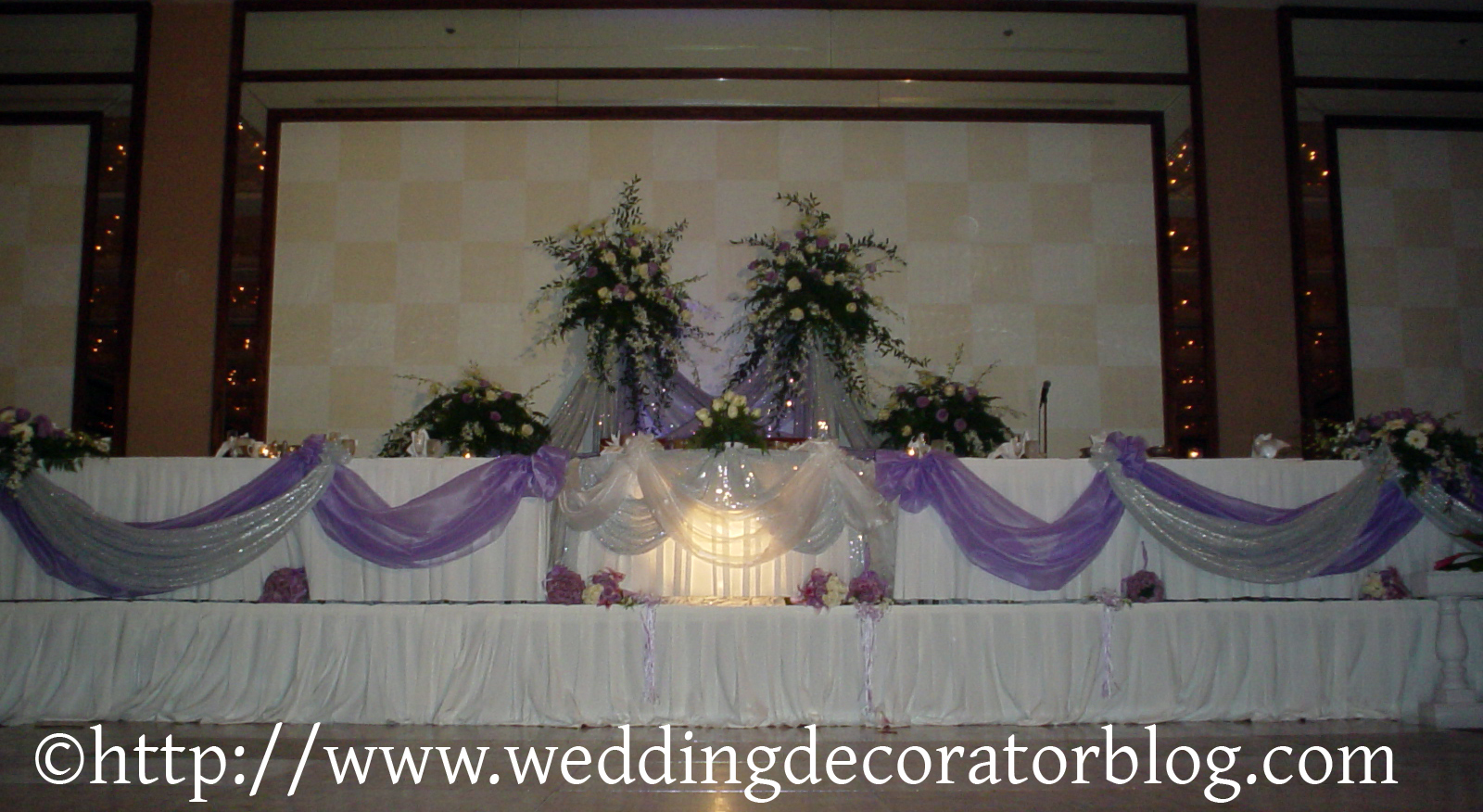Head table decorations archives for Wedding party table decorations
