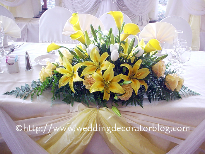 Flower arrangements for your head table -