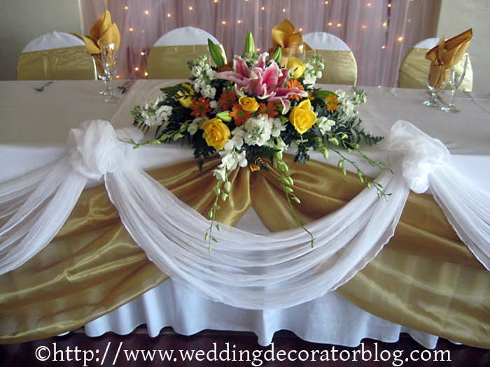 Floral arrangements for wedding receptions