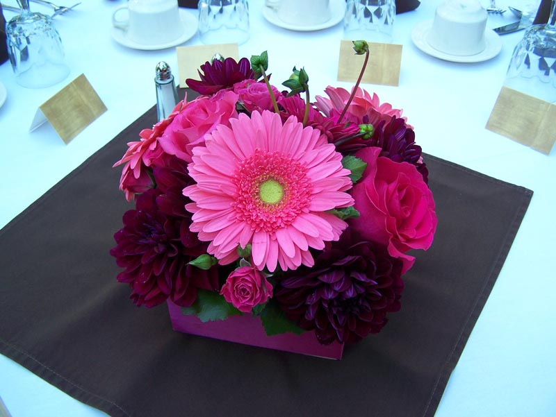One Stop Wedding Pink Wedding Table Centerpieces