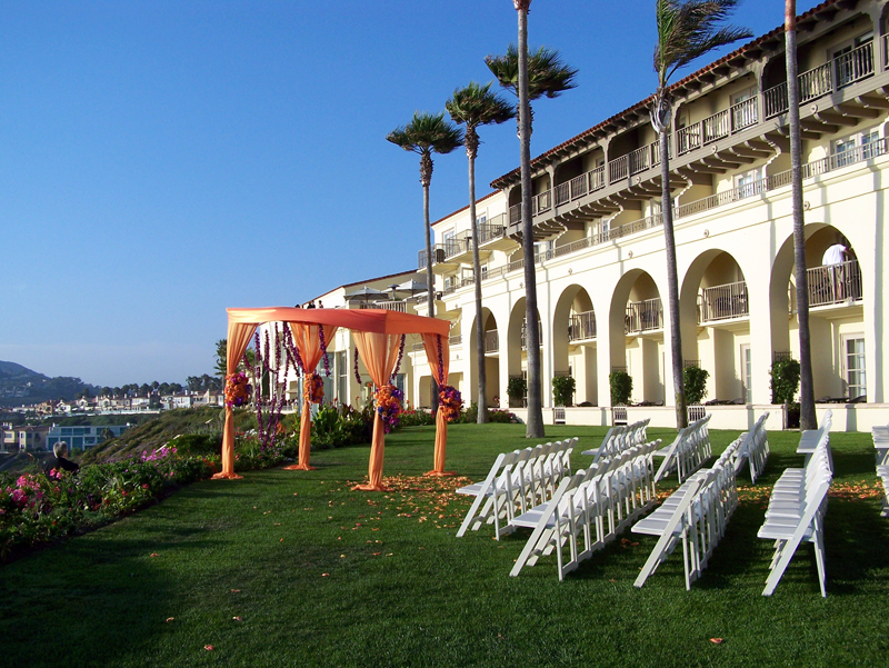 This Wedding Took Place At The Ritz Carlton In Dana Point It Is Actually Overlooking Ocean Which You Can T See From Here If Photo Had Been Taken