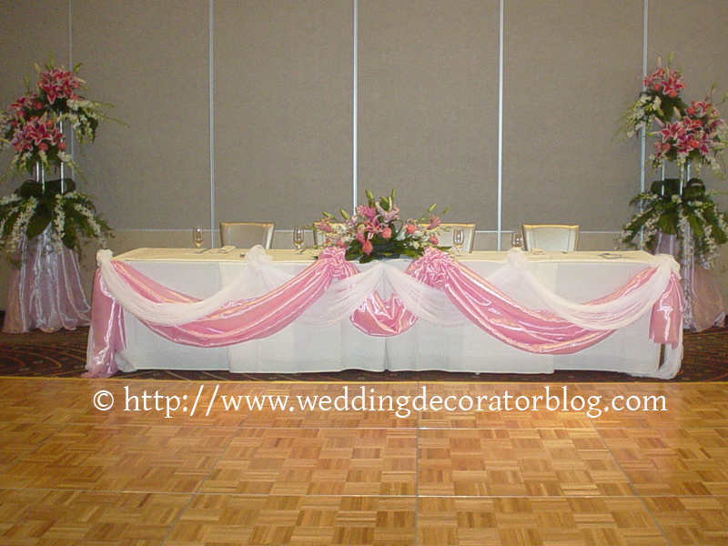 head table layout and decorations. Black Bedroom Furniture Sets. Home Design Ideas